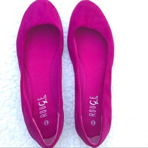 ROUGE HELIUM Hot Pink Flats